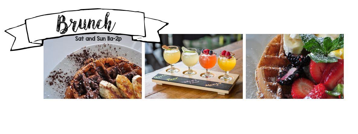 Mimosa flights Belgian waffles
