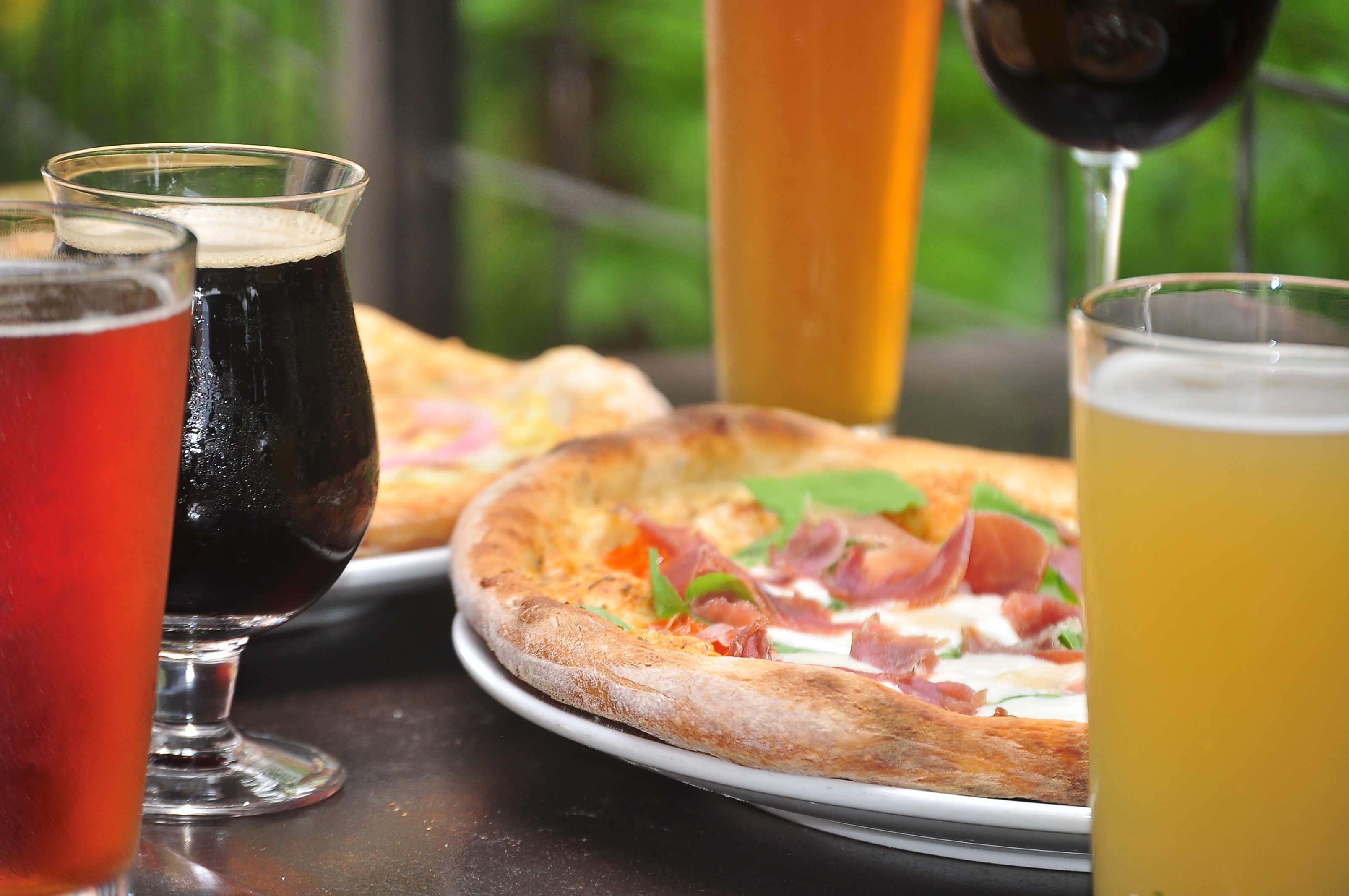 Craft Beer Wood fired pizza garden patio
